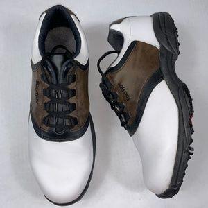 Footjoy GreenJoys Bron & White Golf Shoes